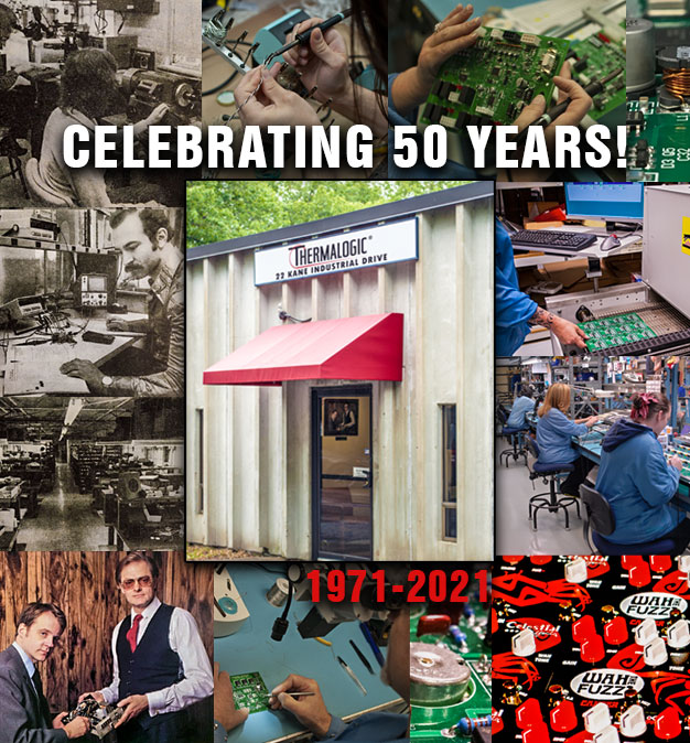 Collage of images spanning the last 50 years Thermalogic has been in business.